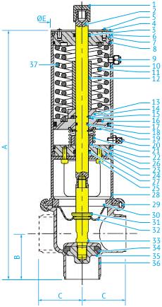 Асептические L- и T-образные затворные пневмоклапаны с PTFE-мембраной Ø63,5 и 76, НЗ