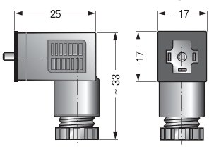 Размеры коннектора CEP/0
