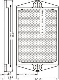 Габаритные размеры, отражатель Fotek A3R