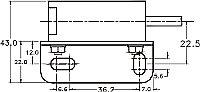 Габаритные размеры, вид спереди Fotek A3R