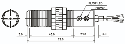 Габаритные размеры фотодатчиков серии CDM-2MX и CDR-30X