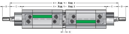 NWT... CNP - оппозитный цилиндр