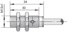 Датчик индуктивный ВБИ-М12-34У-1111-Л / ВБИ-М12-34У-1112-Л / ВБИ-М12-34У-1121-Л