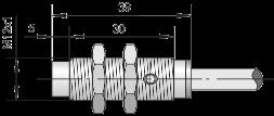Датчик индуктивный ВБИ-М12-39У-2111-Л / ВБИ-М12-39У-2112-Л / ВБИ-М12-39У-2121-Л / ВБИ-М12-39У-2122-Л