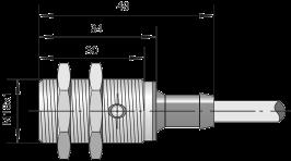 Индуктивный датчик ВБИ-М18-34С-1111-Л / ВБИ-М18-34С-1121-Л