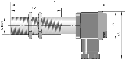 Индуктивный датчик ВБИ-М18-76К-1111-З / ВБИ-М18-76К-1113-З / ВБИ-М18-76К-1123-З