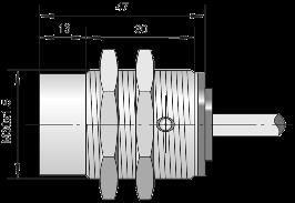 Индуктивный датчик ВБИ-М30-49У-2111-Л / ВБИ-М30-49У-2121-Л