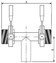Клапан 3-ходовой с 2-мя шиберами на линии