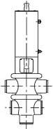 Конфигурация клапана типа T/T