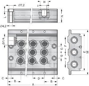 Размеры монтажной плиты
