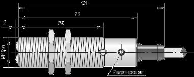 Оптический датчик ВБО-М18-76С-8111-СА / ВБО-М18-76С-8113-СА / ВБО-М18-76С-8123-СА