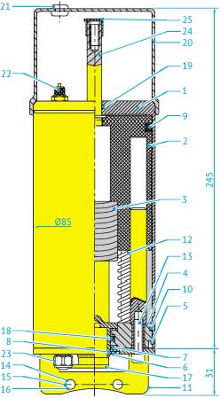 Пневматический привод для шиберных Ø25 до 76 и шаровых клапанов DN8 до40 с кожухом