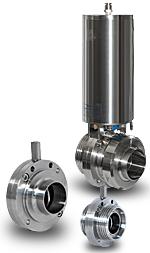 Шиберные клапаны для пищевой промышленности Eurobinox
