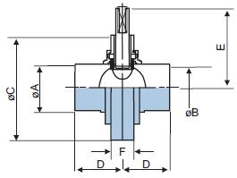 Шиберный клапан из нержавеющей стали 304 с приварными концами DIN