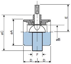 Шиберный клапан из нержавеющей стали 304 с резьбовыми концами DIN