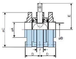 Шиберный клапан из нержавеющей стали 316L с приварными фланцами SMS