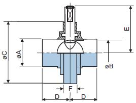 Шиберный клапан из нержавеющей стали 316L с приварными концами DIN