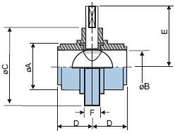 Шиберный клапан из нержавеющей стали 316L с резьбовыми концами IDF