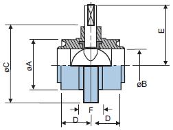 Шиберный клапан из нержавеющей стали 316L с резьбовыми концами RJT
