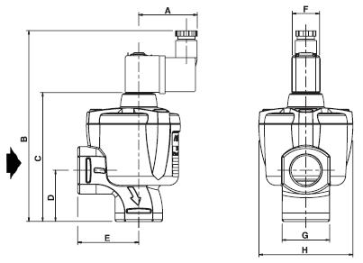 Электромагнитный клапан Asco, серия 353