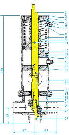 Затворные L- и T-образные пневматические клапаны Ø25, НО или НЗ