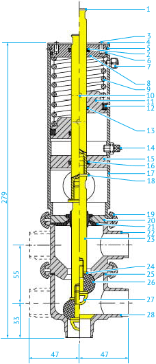 Затворные L/L- и T/T-образные пневмоклапаны Ø25, НО или НЗ