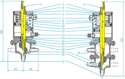 Затворный пневмоклапан Ø6—18, НО, НЗ